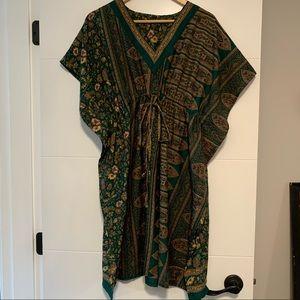 Handmade Green Boho Tunic Dress